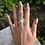 Thumbnail: Crystal Cursive Swirl Ring