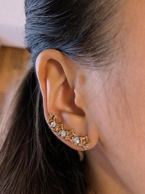 Star Wrap Ear Stud Earring