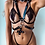 Thumbnail: Silver O Cross Links Body Harness