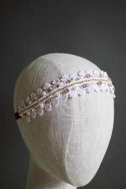 Ocean Pearl Lace Headband