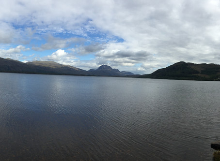 Sandy's big fish and Loch Maree!