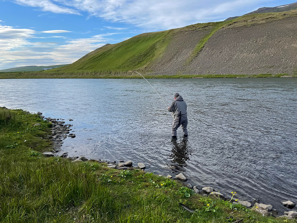 Playing a Salmon on Blanda