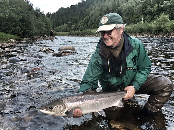 Salmon Fishin In Norway