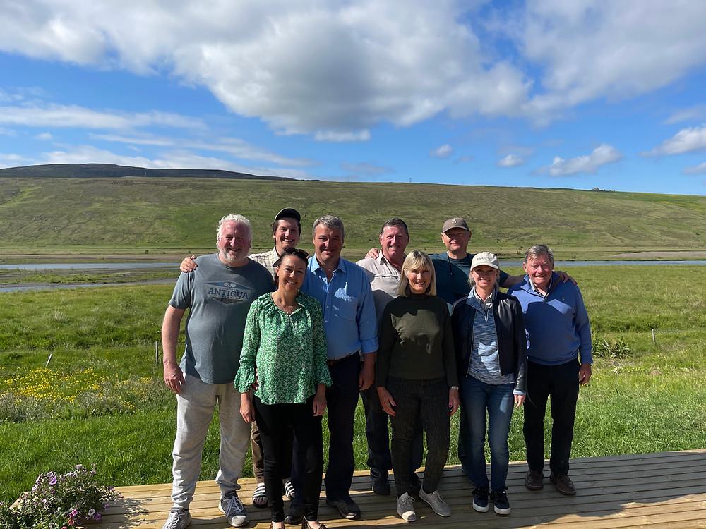 Friends enjoying Blanda Iceland