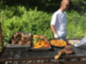 Chef prepares Barbecue at Aunan River Orkla