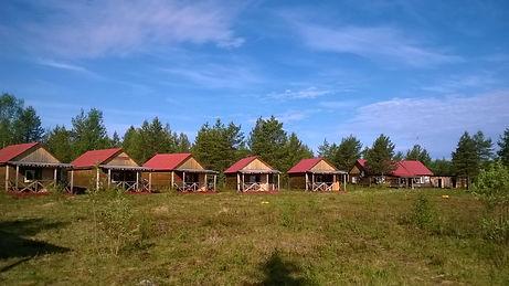 Cabins at Varzuga RIver Russia