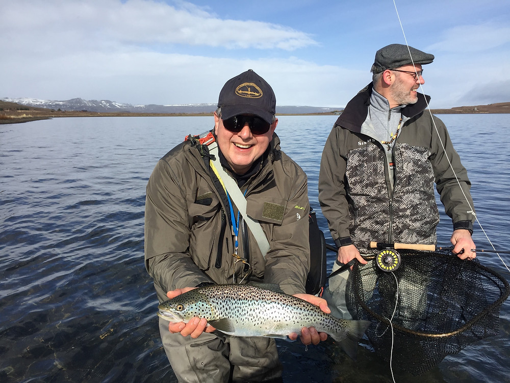 Fishing Lake Thingvallavtn Iceland