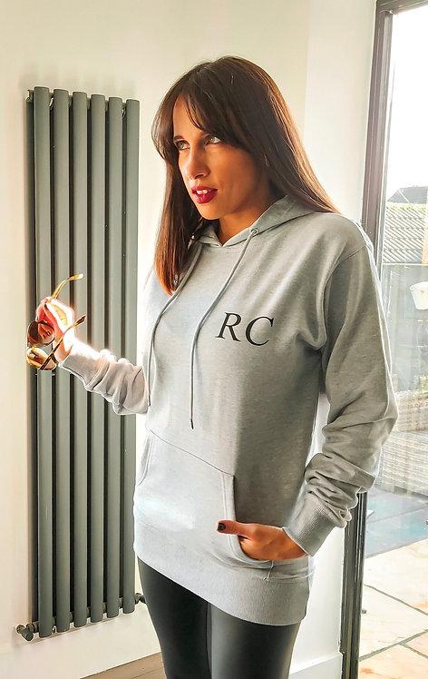 Personalised initial grey hoodie