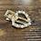Thumbnail: Gold, Pearl and diamonte hair clip