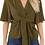Thumbnail: Khaki tie front blouse