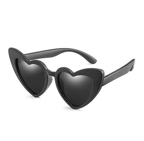 Childrens black heart sunglasses