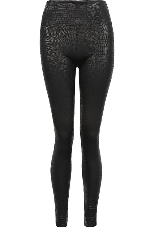 Croc textured leather look leggings