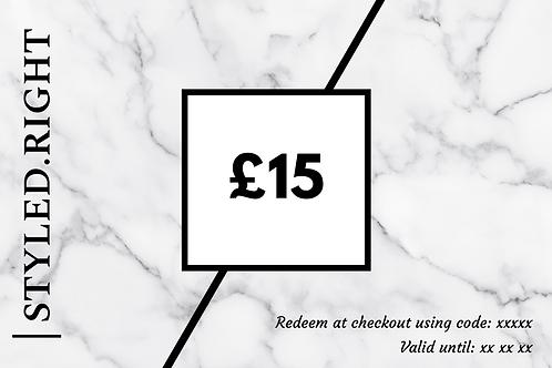 Gift Vouchers £15 £20 £30 £50 £100