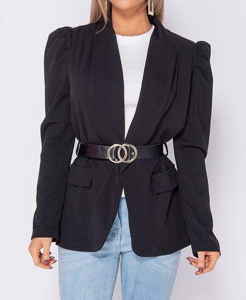 Parisian black belted blazer