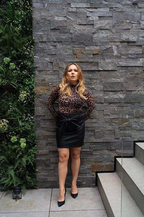 Parisian leopard print bodysuit