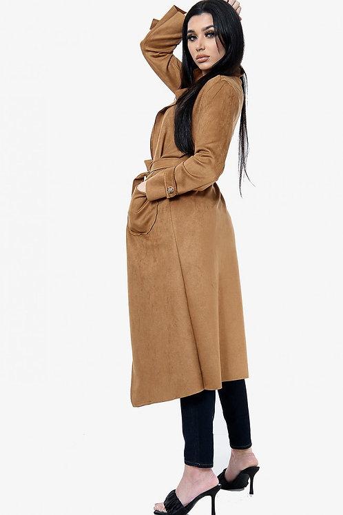 Longline camel jacket