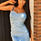 Thumbnail: Denim bodycon dress with adjustable straps