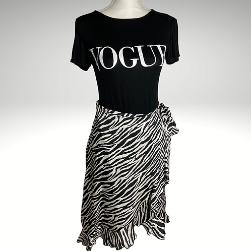 Zebra print wrap skirt
