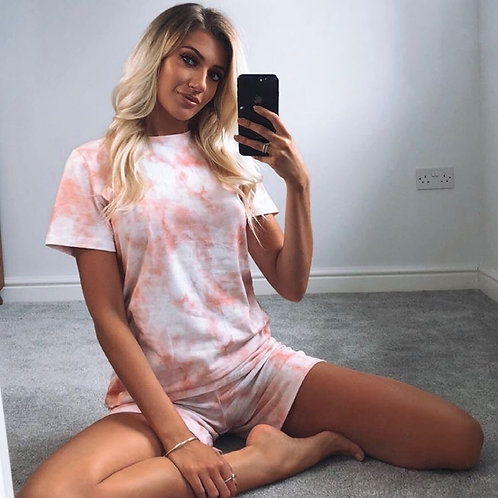 Tie dye t-shirt and shorts set
