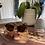 Thumbnail: Half frame round tortoiseshell sunglasses