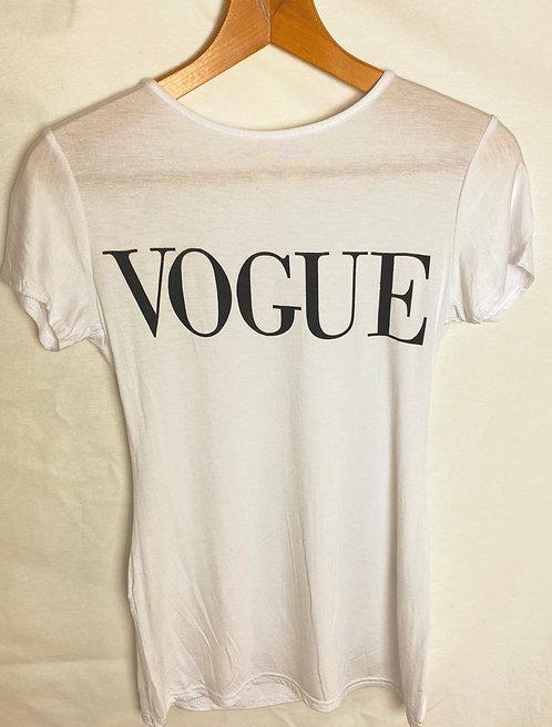 Printed Vogue tee (white)