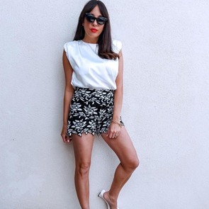 Satin top and shorts