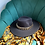 Thumbnail: Black fedora hat with gold chain detail