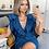 Thumbnail: Parisian V neck belted denim dress