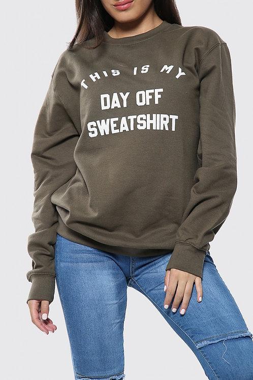 Day Off Sweatshirt (Olive)