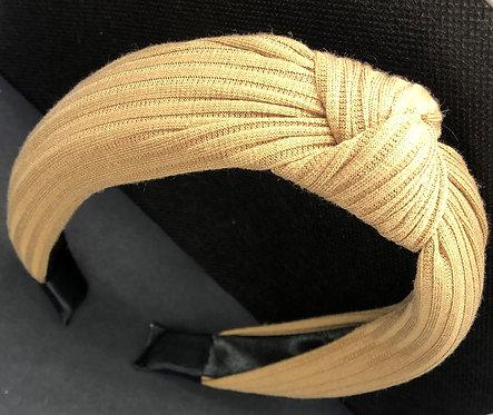 Caramel knotted headband