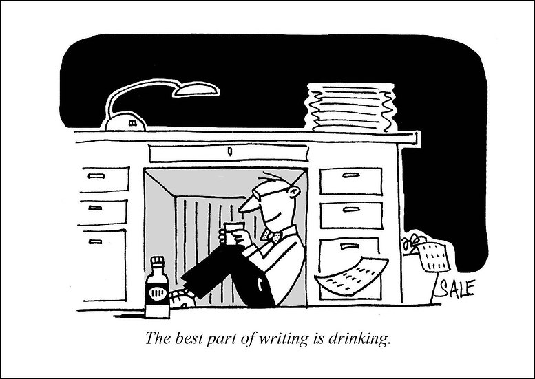 Writing Drinking.