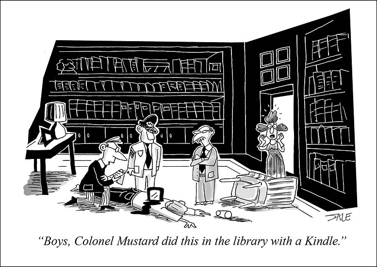 Col. Mustard with Kindle.