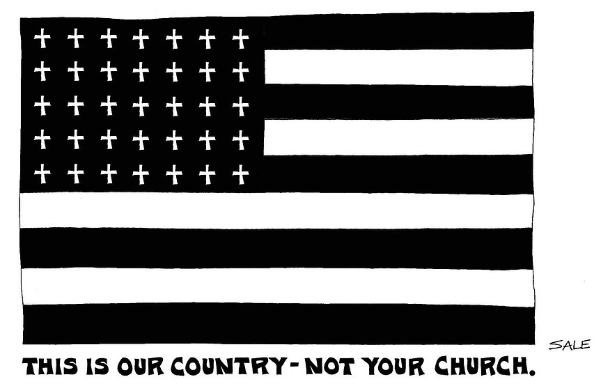 Flag: Our Country Not Your Church