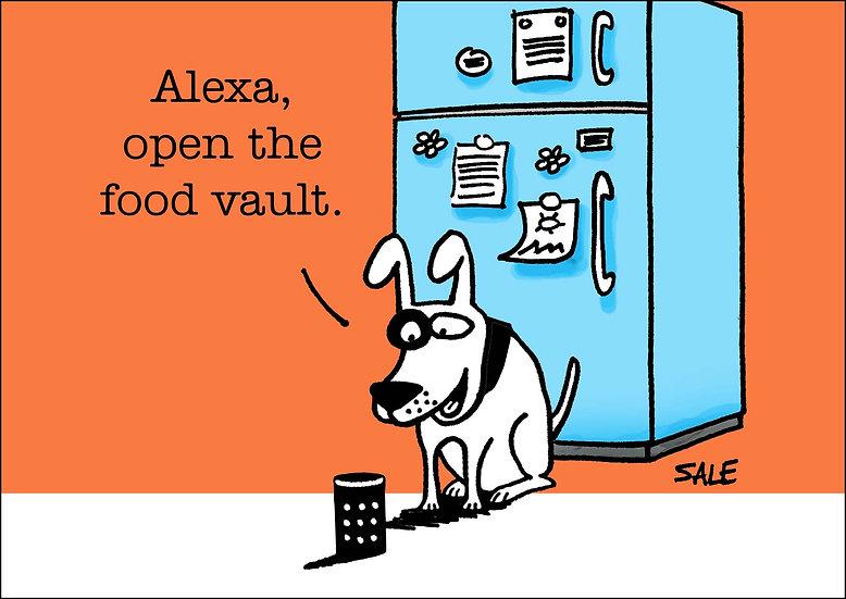 Alexa: Food Vault.