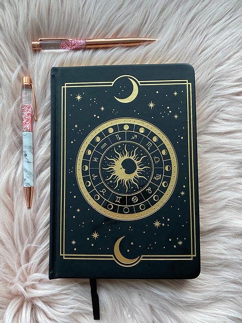 Astral Dot Grid Journal - Black