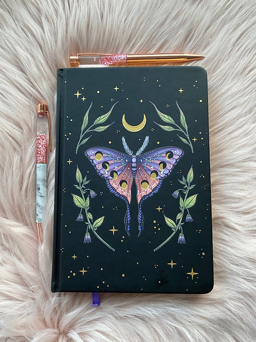 Luna Moth Dot Grid Journal
