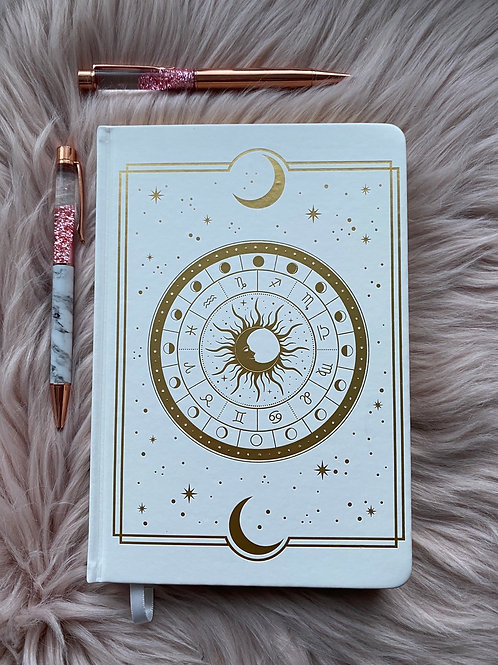Astral Dot Grid Journal - White