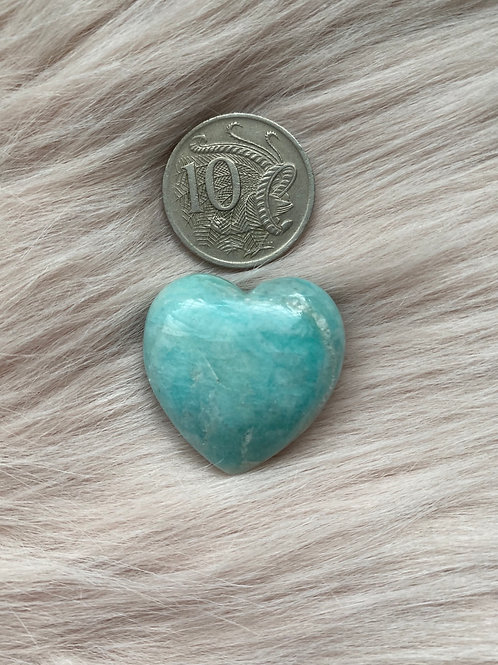 Amazonite Russian Green Heart
