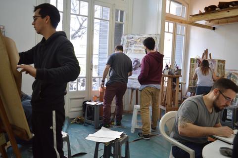 clases grupales en el año 2019 dentro de nuestro taller en la sede de Villa Crespo, CABA