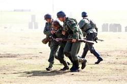 Sani! Carrying an injured soldier back - Lytham
