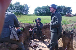 Granatwerfer deployed in a trench