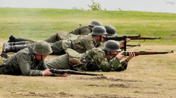The Squad forms a firing line at Lytham