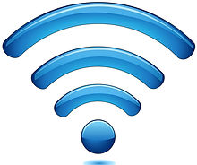 WiFi symbol in blue