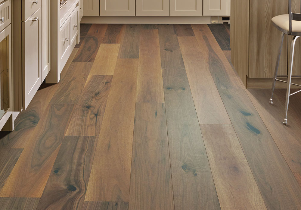 Waterproof Engineered Hardwood Flooring in a Kitchen