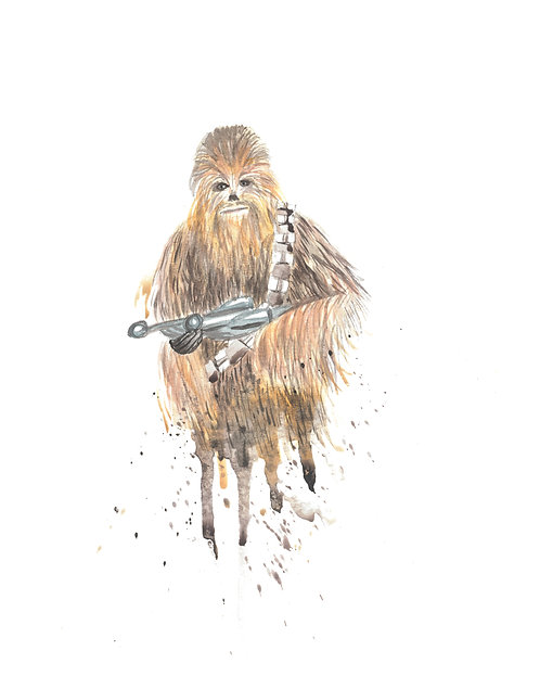 Chewbacca Watercolor Art Print   |   Star Wars