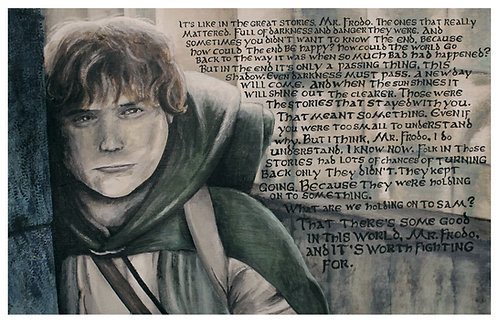 Samwise Gamgee Acrylic Art Print   |   Lord of the Rings