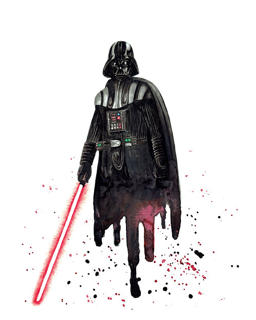 Darth Vader Watercolor Art Print   |   Star Wars