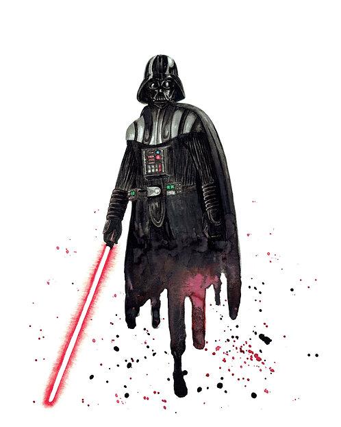 Darth Vader Watercolor Art Print   |   Star Wars
