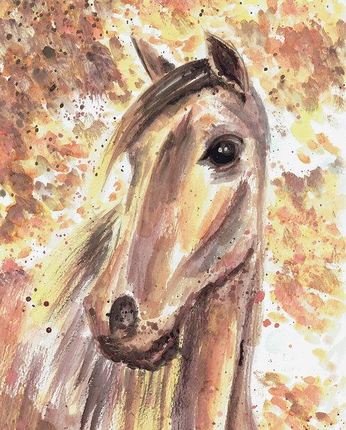 Horse Watercolor Art Print    |    Animals
