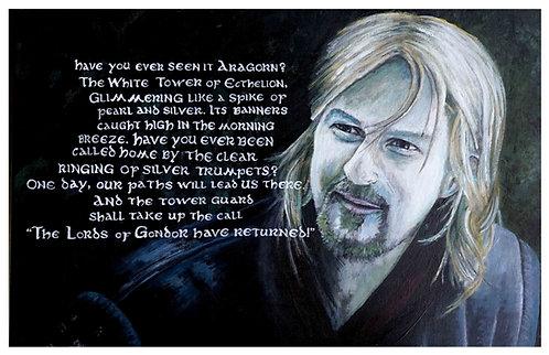 Boromir Acrylic Art Print   |   Lord of the Rings
